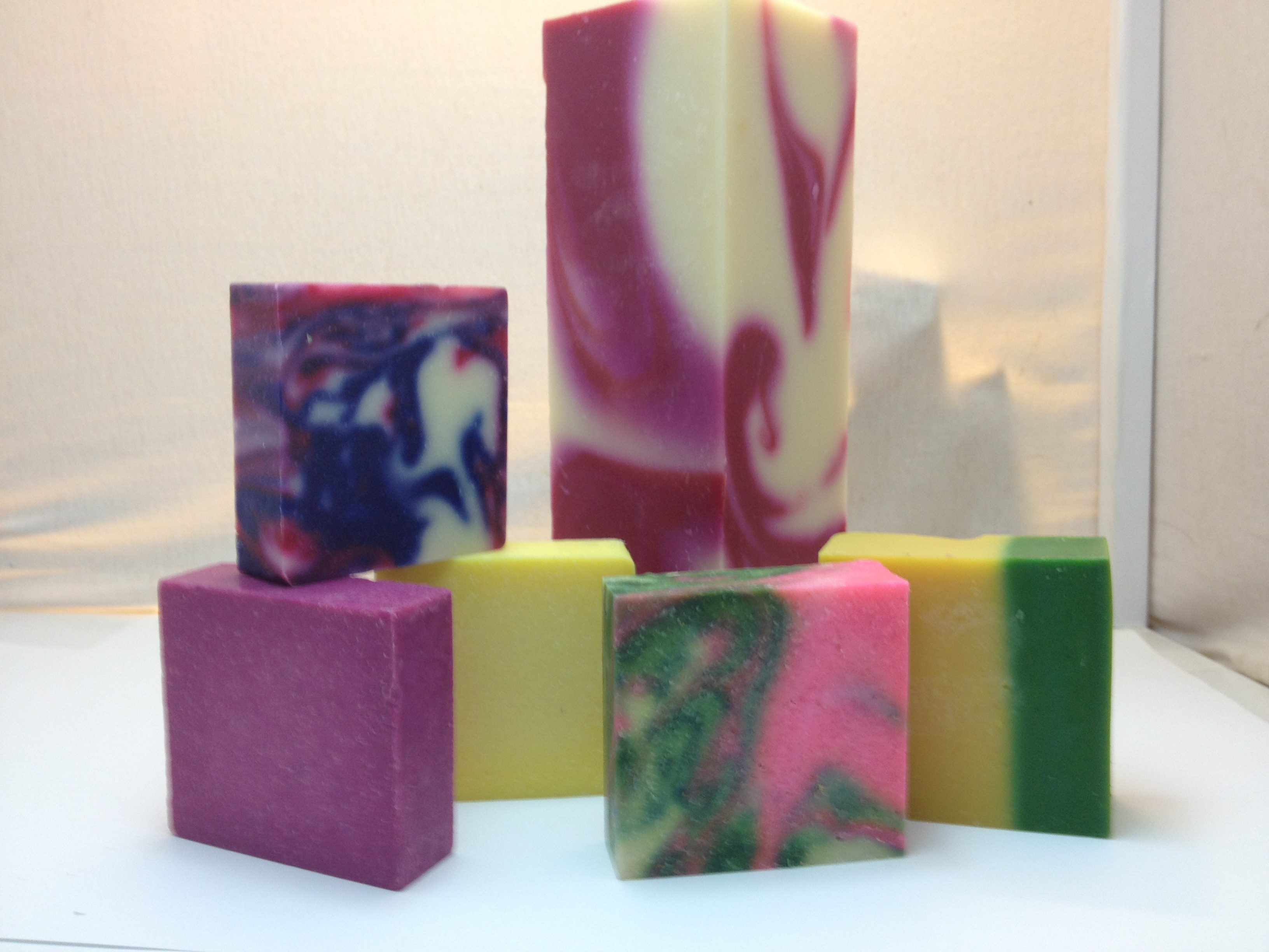 Assortment of natural soap bars