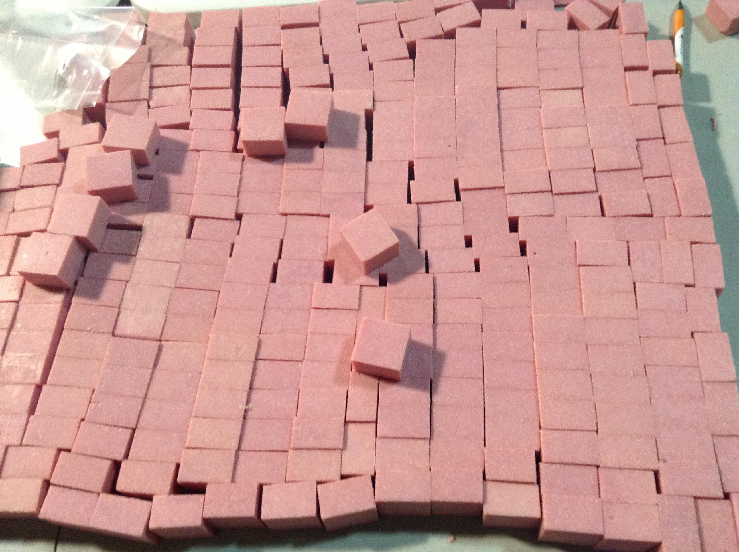 handmade soap varied