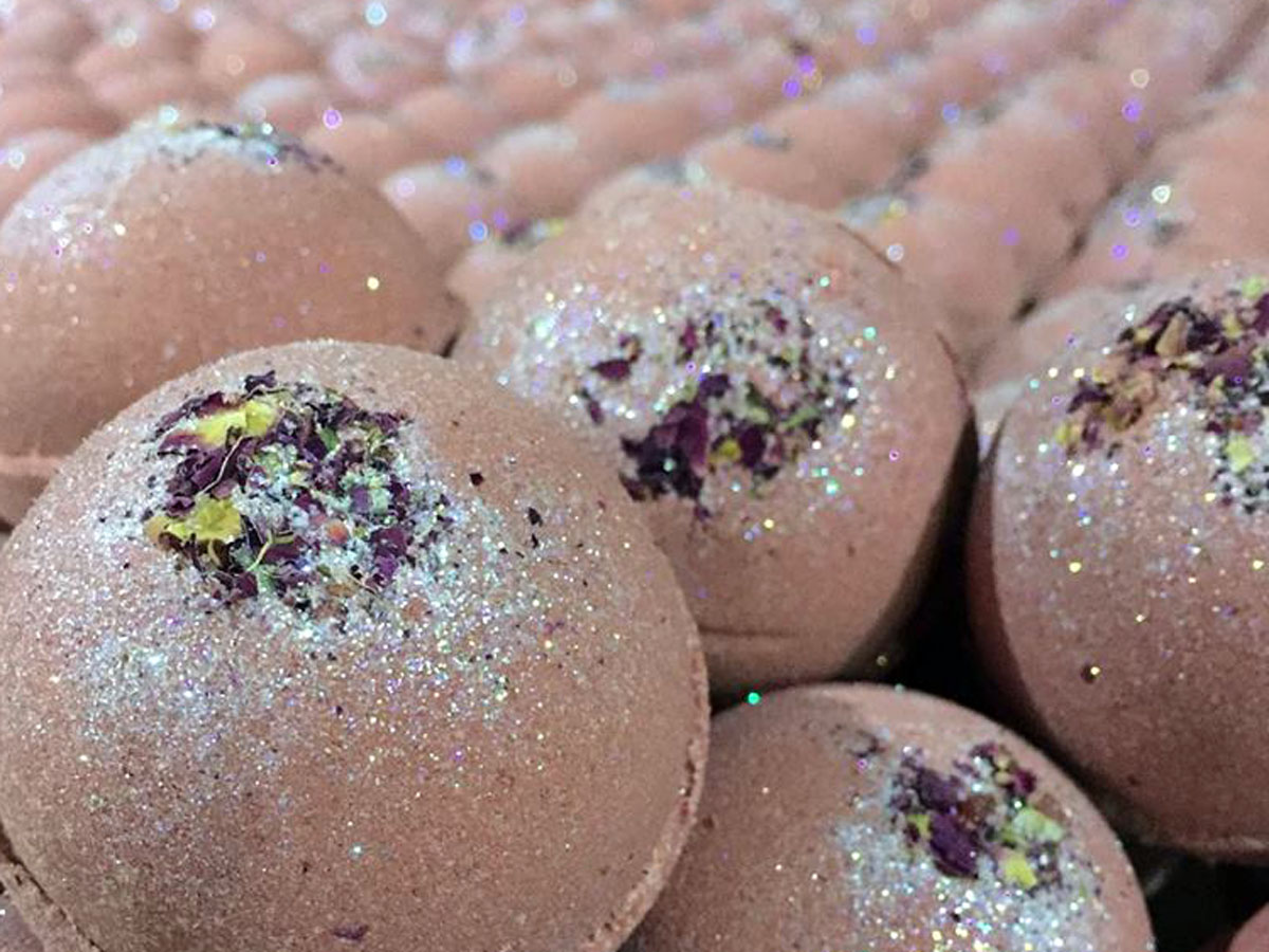 Petal Dance Bath Bomb Close Up